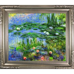 Water Lillies by Claude Monet Oil Painting Print on Canvas by Tori Home