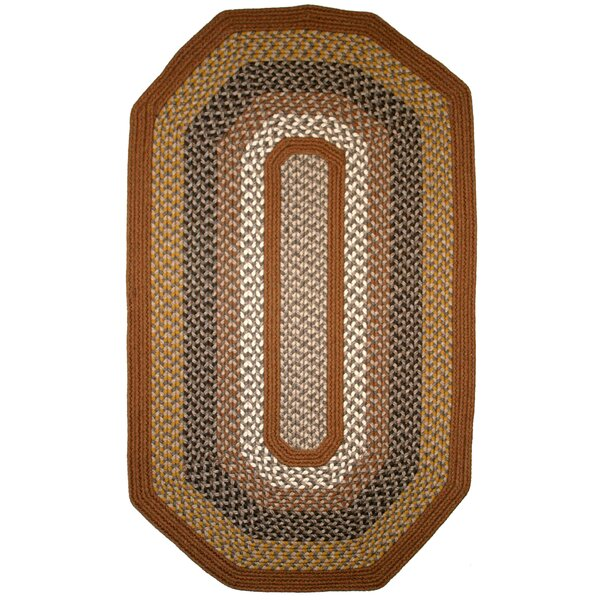 Green Mountain Maple Syrup Multi Elongated Octagon Brown Area Rug by Thorndike Mills
