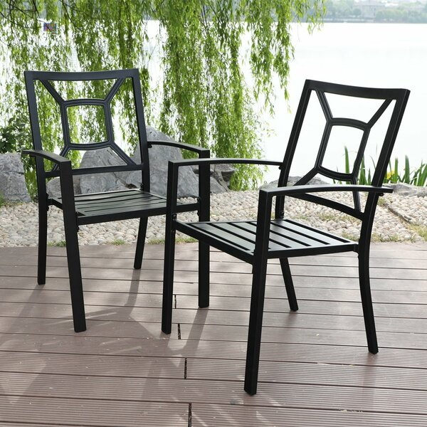 Southchase Stacking Patio Dining Chair (Set of 2) by Winston Porter
