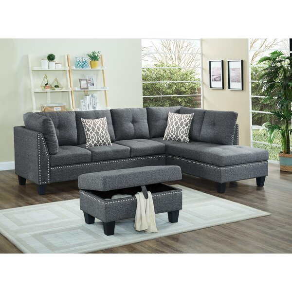 Farallones Sectional with Ottoman by Red Barrel Studio