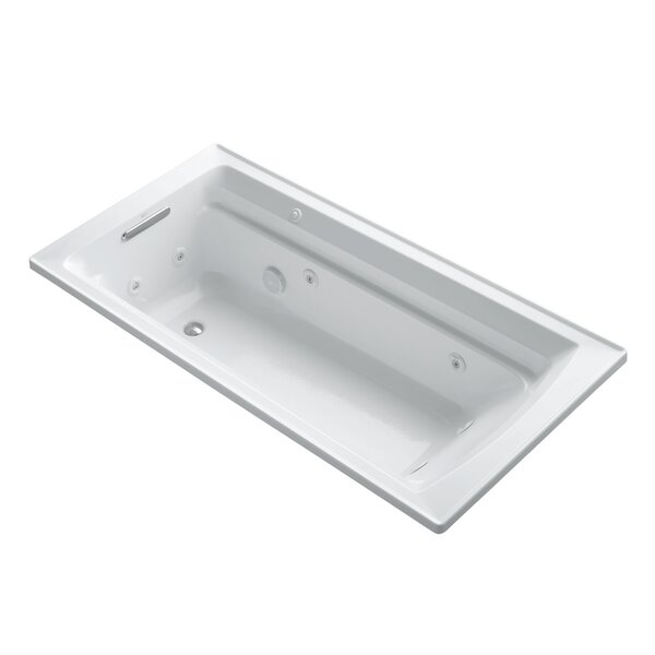 Archer 72 x 36 Drop-in Whirlpool with Reversible Drain and Bask Heated Surface by Kohler