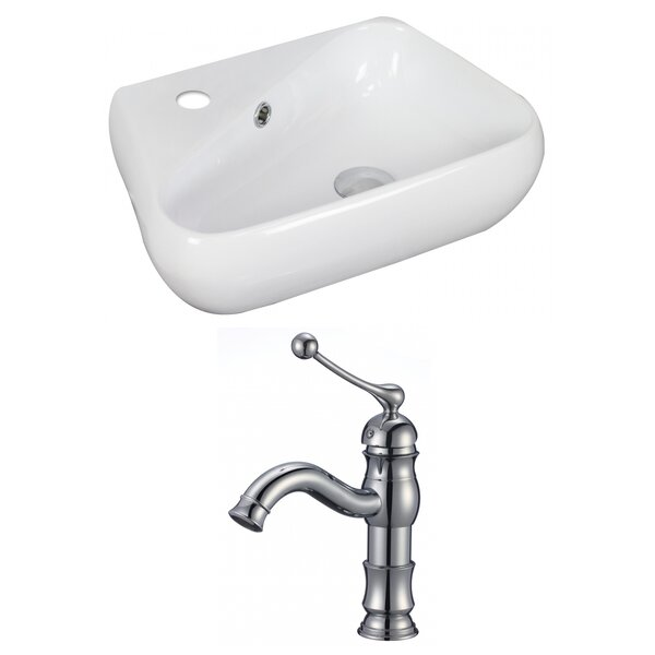 Ceramic Specialty Vessel Bathroom Sink with Faucet and Overflow by Royal Purple Bath Kitchen