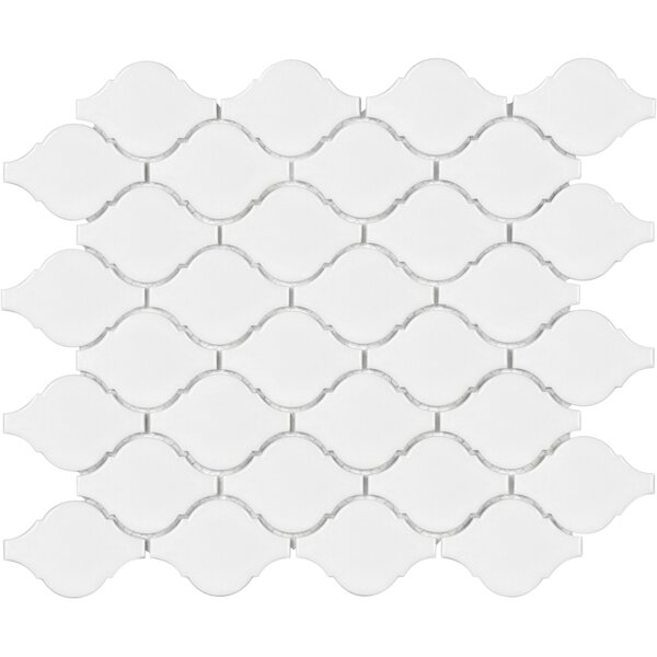 Sail Ceramic/Porcelain Mosaic Tile in Glossy White by Parvatile