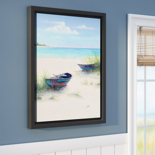 Sambataro South Coral Beach Framed Painting Print on Wrapped Canvas by Beachcrest Home