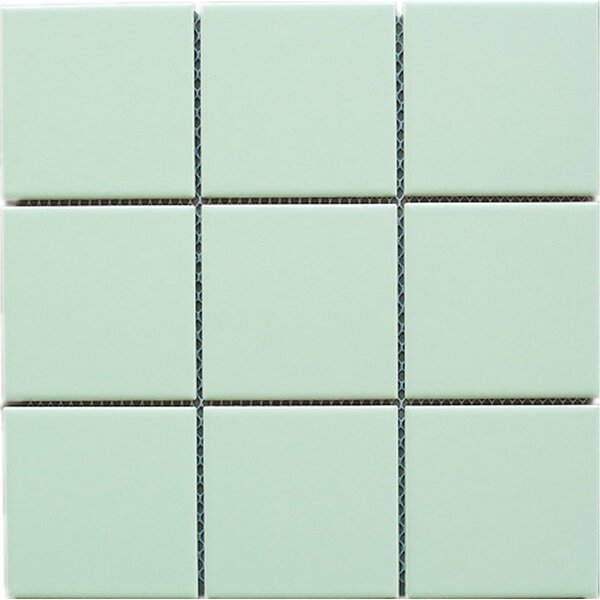 4 x 4 Porcelain Tile in Green by Multile