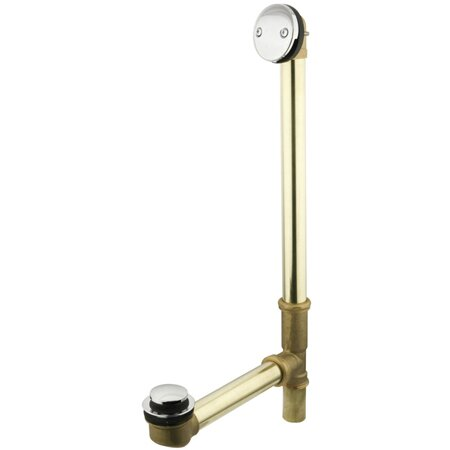 Made to Match Tip-Toe 1.5 Leg Tub Drain With Overflow by Kingston Brass