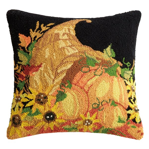 Mcfarlane Autumn Bounty Wool Throw Pillow by The Holiday Aisle
