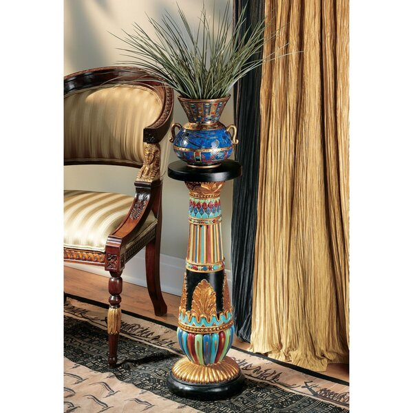 Regal Egyptian Luxor Pedestal Plant Stand (Set Of 2) By Design Toscano