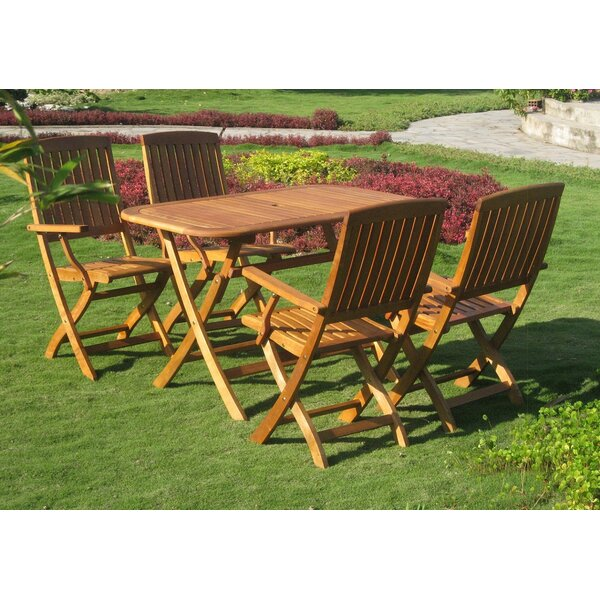 Sabbattus Almeria 5 Piece Dining Set by Breakwater Bay