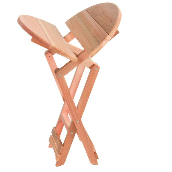 Western Red Cedar Folding  Solid Wood Side Table by All Things Cedar