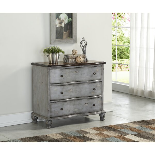 Aikens 3 Drawer Bachelors Chest by Ophelia & Co.