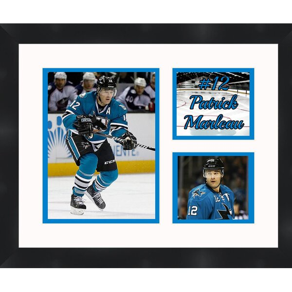 San Jose Sharks Patrick Marleau 12 Photo Collage Framed Photographic Print by Frames By Mail