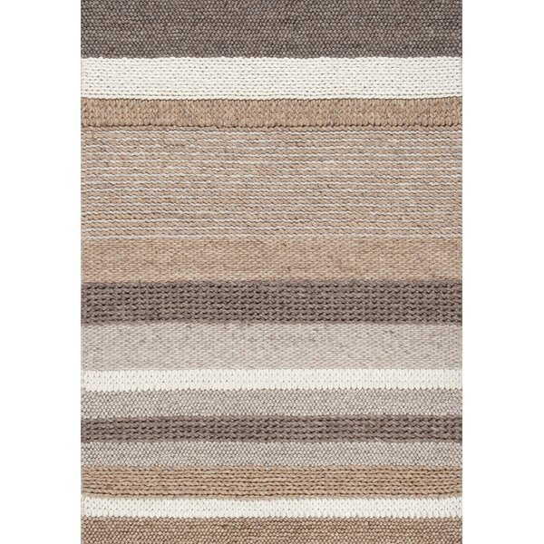 Sundy Beige Stripes Area Rug by Latitude Run