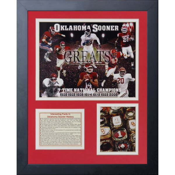 Oklahoma Sooners Greats Framed Memorabilia by Legends Never Die