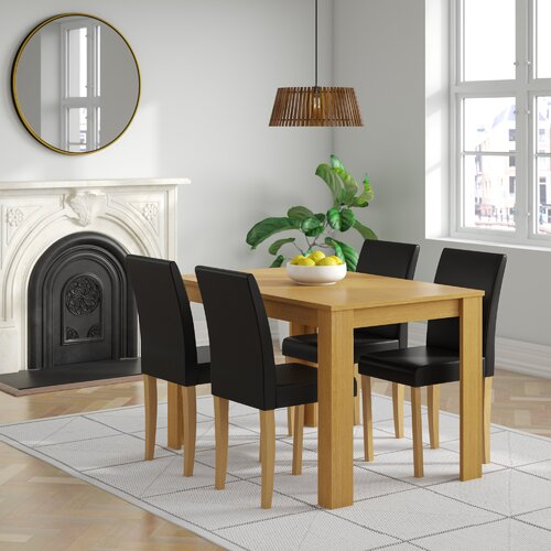 Boville Dining Set with 4 Chairs Marlow Home Co. Colour