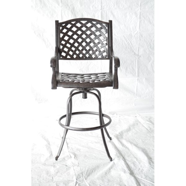Nola Patio Bar Stool by Darby Home Co