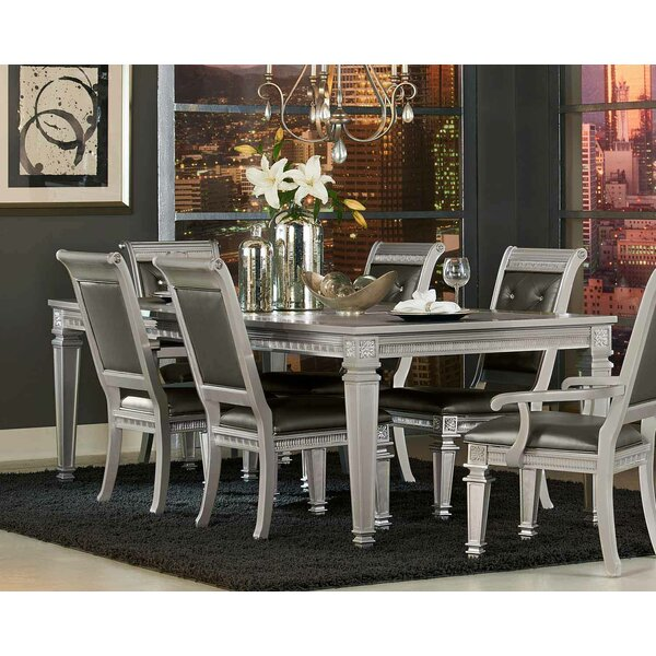 Julianne Butterfly Leaf 7 Piece Dining Table by Rosdorf Park
