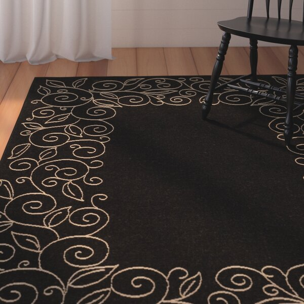 Laurel Black/Sand Outdoor Rug by August Grove