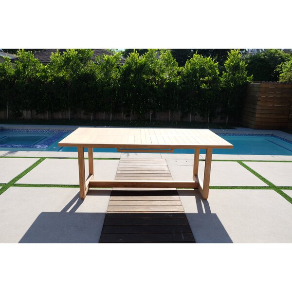 Crelake Extendable Teak Dining Table by Foundry Select