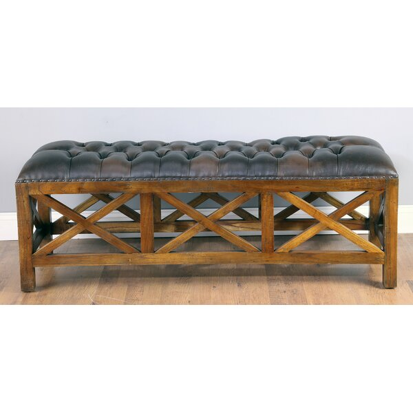 Anne X Wood Bench by Loon Peak Loon Peak