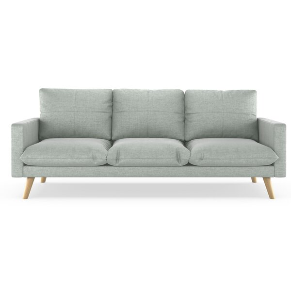Woodhollow Velvet 84.6-inch Square Arm Sofa by Corrigan Studio Corrigan Studio