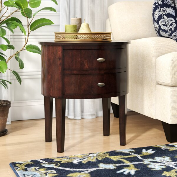 Canterbury End Table With Storage  By Three Posts by Three Posts
