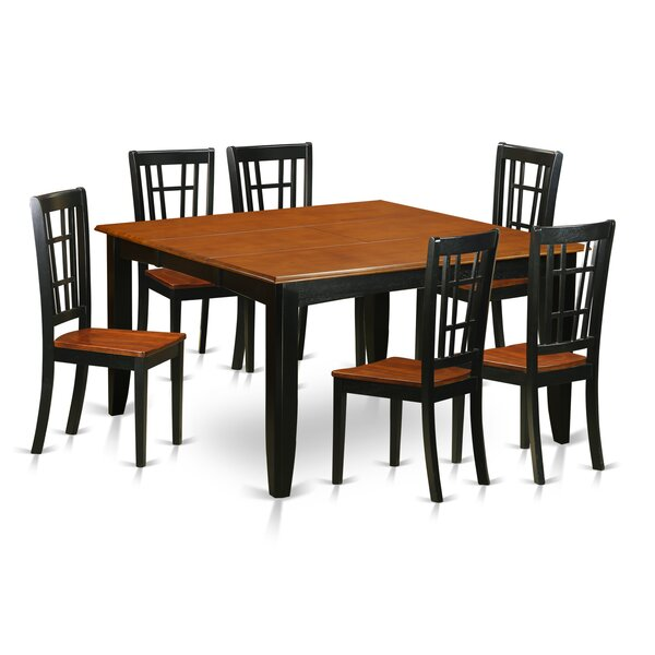 Pilning Modern 7 Piece Wood Dining Set by August Grove