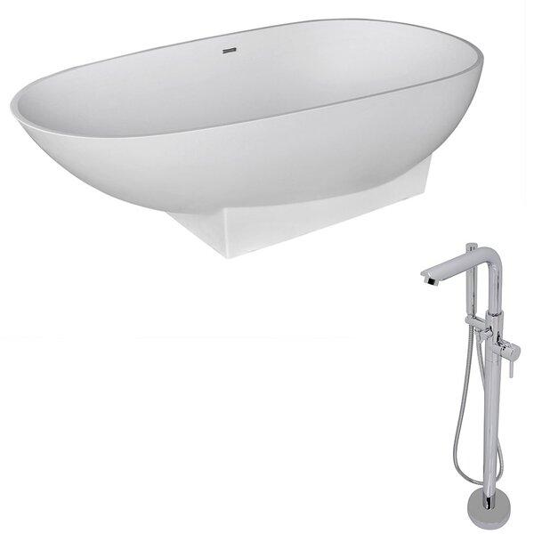 Volo 70.8 x 35.5 Freestanding Soaking Bathtub by ANZZI