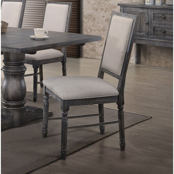 Ahrens Side Upholstered Dining Chair (Set of 2) by One Allium Way