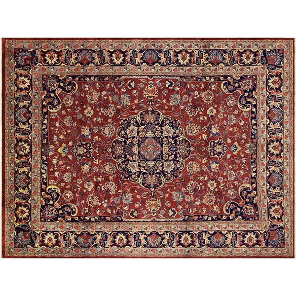 Barkhampstead Hand-Knotted Wool Red/Blue Area Rug by Bloomsbury Market