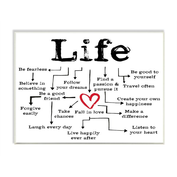 Life Path to the Heart Textual Art Wall Plaque by Stupell Industries