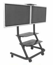 Dual Display Video Conferencing AV Cart by Chief Manufacturing