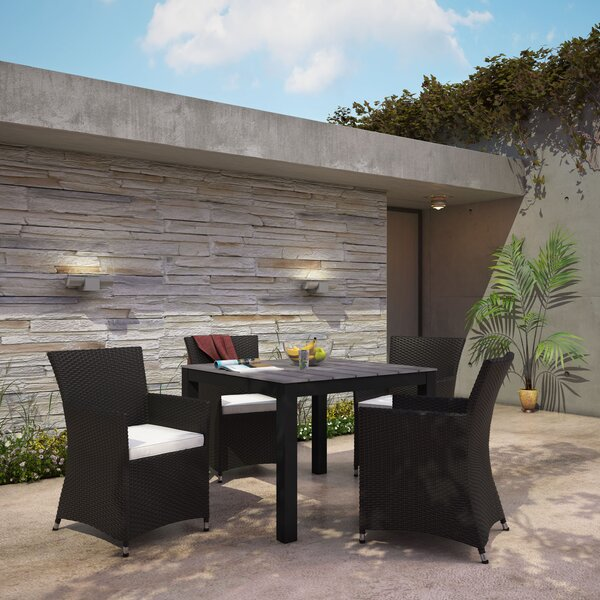 Bletchley Outdoor Patio 3 Piece Dining Set with Cushions by Brayden Studio