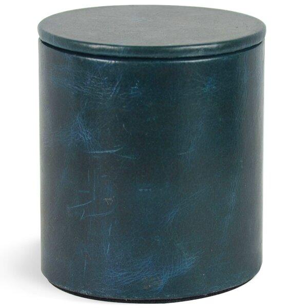 Macy Genuine Leather Round Storage Canister by Brayden Studio
