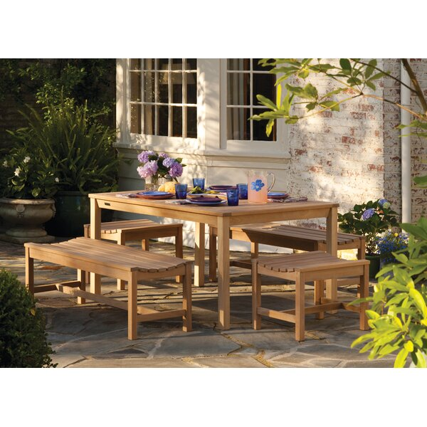 Myler Backless Picnic Bench by Beachcrest Home Beachcrest Home
