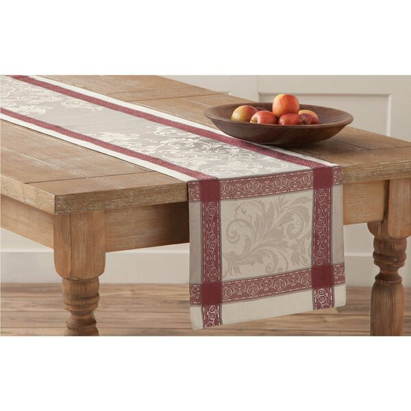 Emerson Elegant Scroll Woven Jacquard Table Runner by HomeCrate