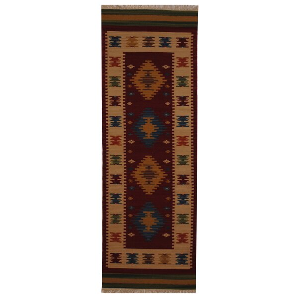Hand-Woven Red/ Ivory Indoor Area Rug by Herat Oriental