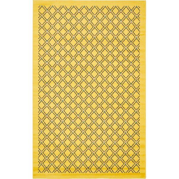Wanamaker Yellow Area Rug by Wrought Studio