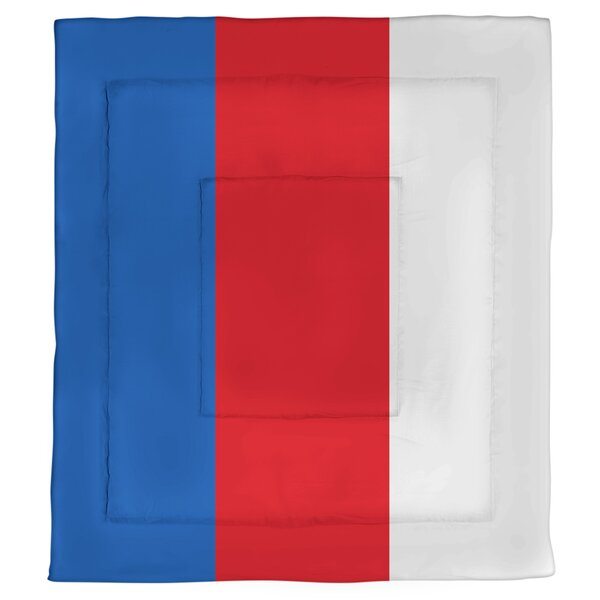 College Stripes Kansas Microfiber Single Reversible Comforter