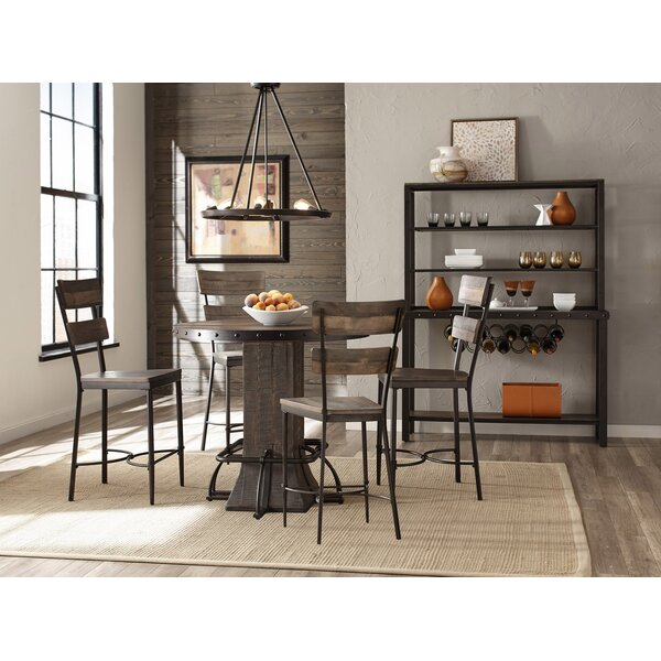 Cathie 5 Piece Round Wood Counter Height Dining Set by Gracie Oaks