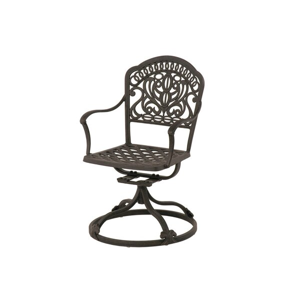 Merlyn Swivel Rocking Chair with Cushion (Set of 2) by Fleur De Lis Living
