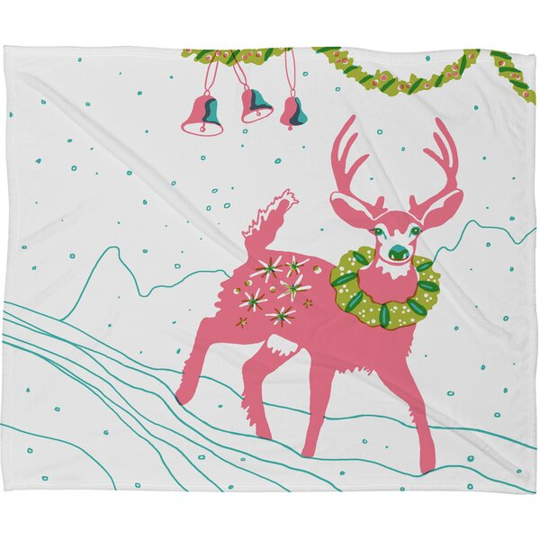 Betsy Olmsted Holiday Deer Plush Fleece Throw Blanket by Deny Designs