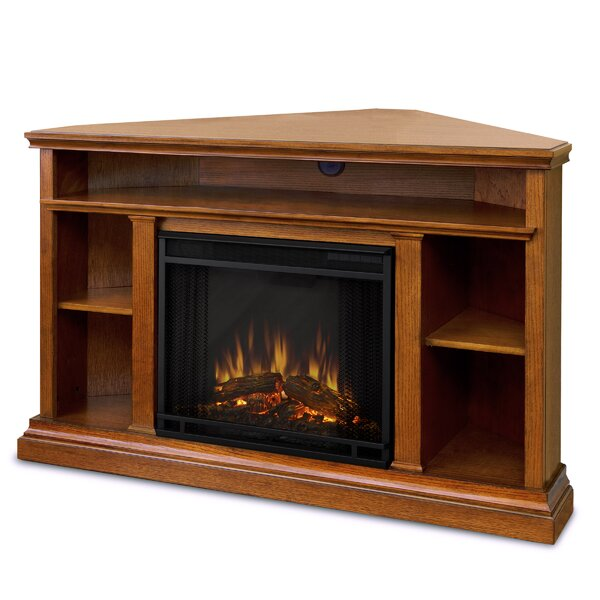 Churchill 51 TV Stand with Fireplace by Real Flame