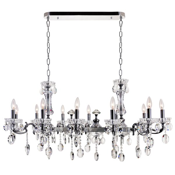 Combs 12-Light Candle Style Geometric Chandelier By Astoria Grand
