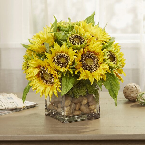 Faux Sunflowers in Vase by Birch Lane™