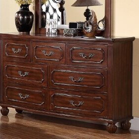 Dunton 7 Drawer Double Dresser with Mirror by A&J Homes Studio