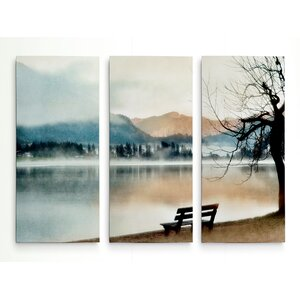 'Inner Peace' Acrylic Painting Print Multi-Piece Image on Wrapped Canvas by Union Rustic