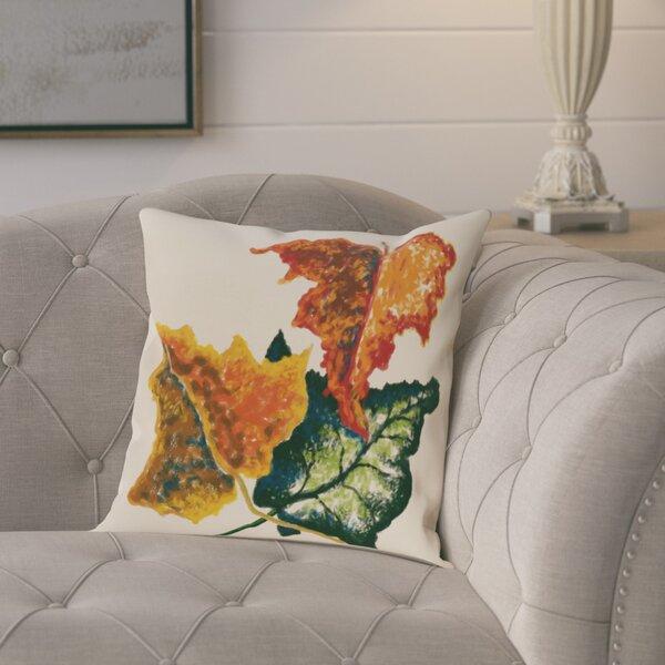 Maillett Autumn Colors Flower Print Throw Pillow by August Grove