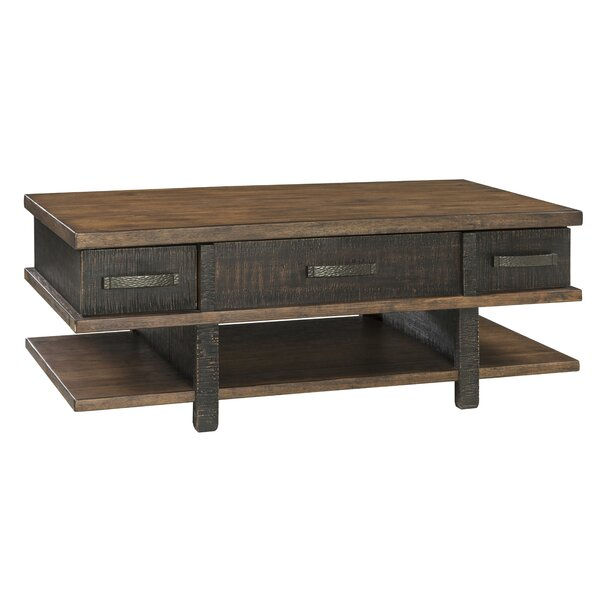 Hunley Lift Top Extendable Coffee Table With Storage By Loon Peak