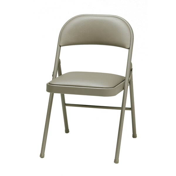 Deluxe Vinyl Padded Folding Chair (Set of 4) by MECO Corporation